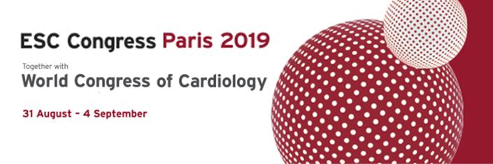 European Society of Cardiology Congress, 2019, Paris, 31 August 2019 to 04 September 2019 (ESC 2019)