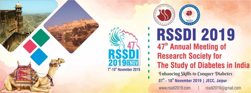 47th Annual Meeting of Research Society for the Study of Diabetes in India, 7th-10th November 2019, JECC, Jaipur, Rajasthan (RSSDI 2019)